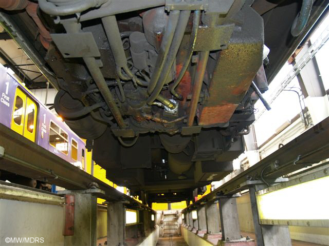 Class 150 from underneath