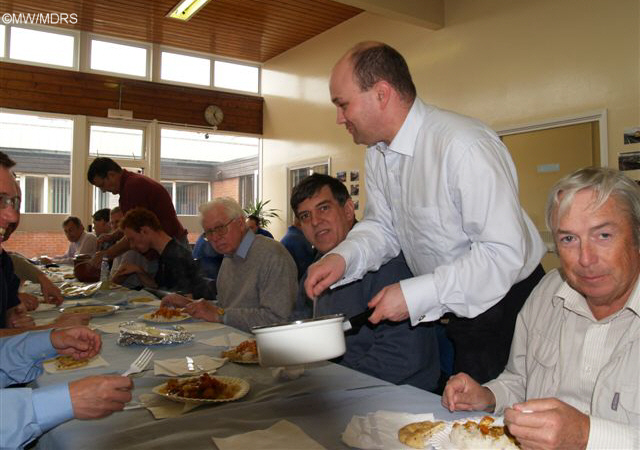 Mark Hopwood serves lunch