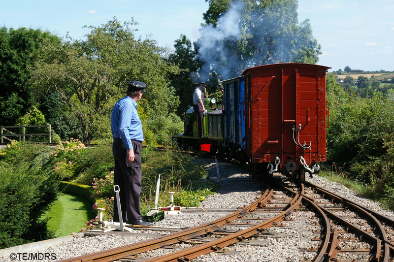 Adrian Shooter supervises the shunting