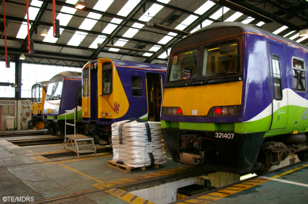 Line up of units in the depot