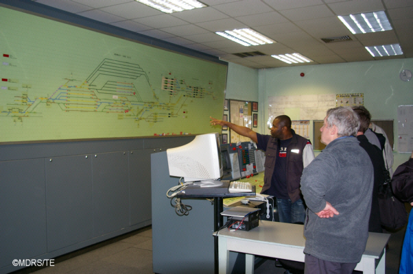 Signaller Isaac explains the Yard panel