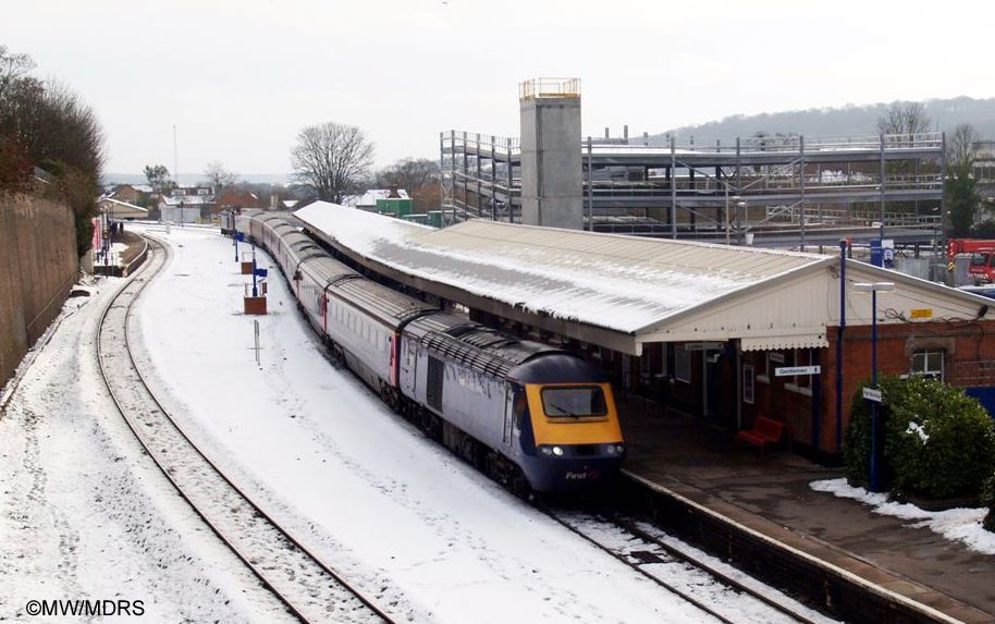 First Great Western HST diverted through Wycombe (photo by Mike Walker)