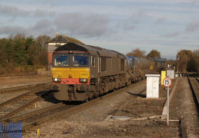 Rail Head Treatment train at Princes Risborough (photo by Mike Walker)