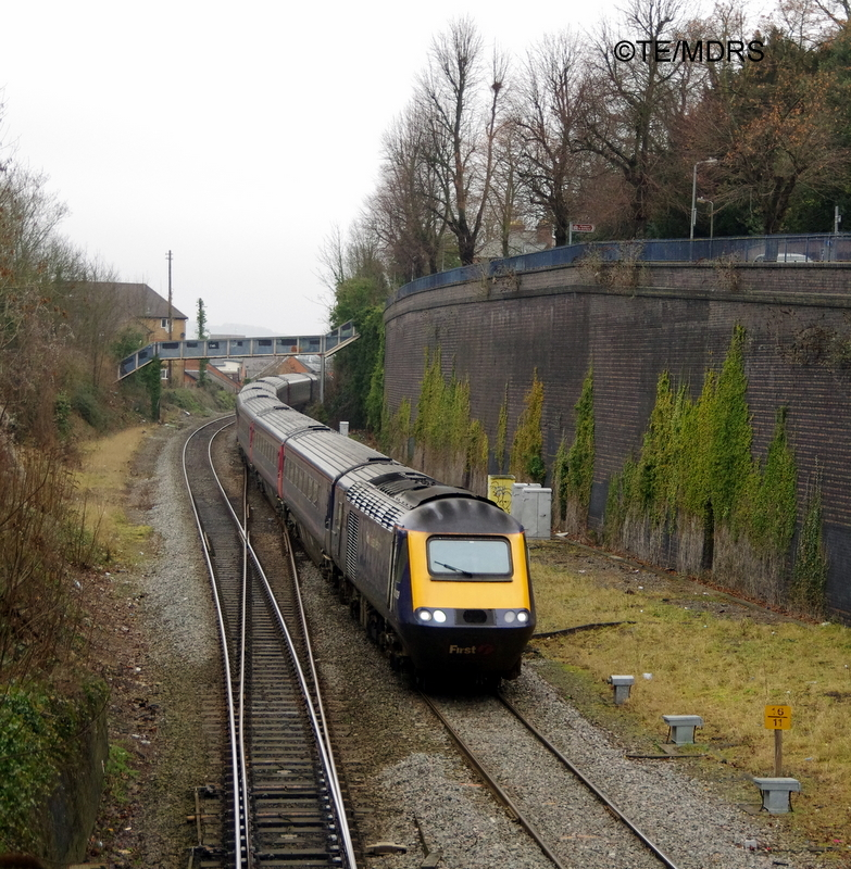 First Great Western HST diverted through Wycombe (photo by Tim Edmonds)