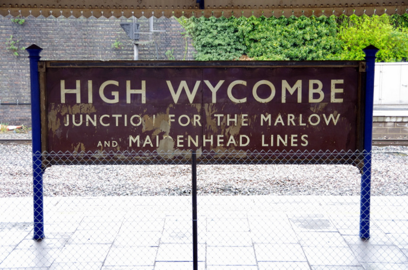Taken on 29 April 2012, the information for passengers at High Wycombe is 42 years out of date... (photo by Tim Edmonds)