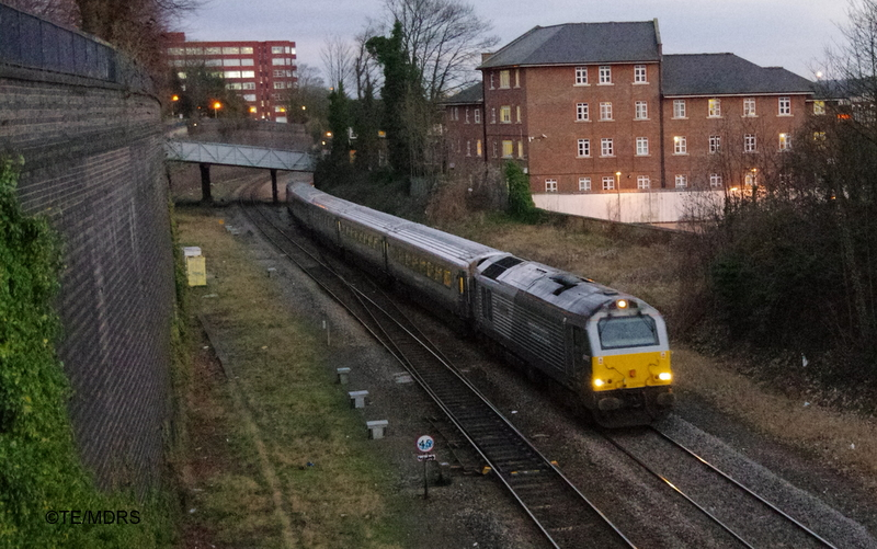 Penultimate down WSM train passing High Wycombe (photo by Tim Edmonds)